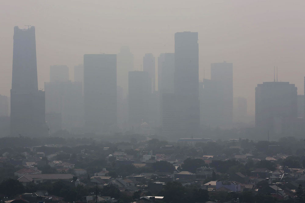 Jakarta's air pollution is one of the worst in the region.